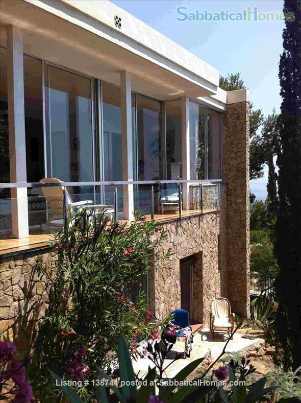 Designer's contemporary steel, glass and rock house on Costa Brava Home Rental in Canyet de Mar, CT, Spain 2