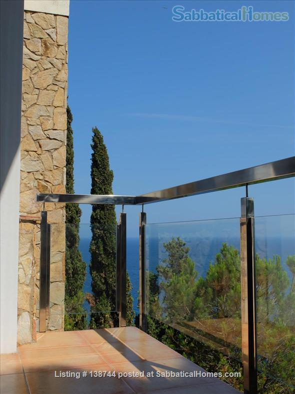 Designer's contemporary steel, glass and rock house on Costa Brava Home Rental in Canyet de Mar, CT, Spain 4
