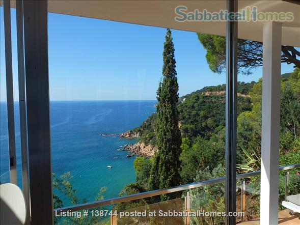 Designer's contemporary steel, glass and rock house on Costa Brava Home Rental in Canyet de Mar, CT, Spain 6