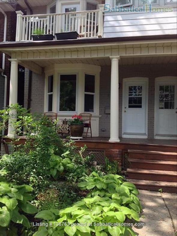 Attractive flat with garden, steps to subway Home Rental in Toronto, Ontario, Canada 1