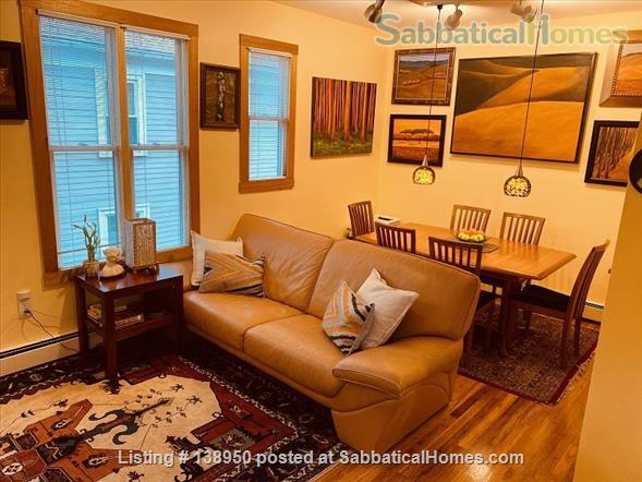 Fully furnished comfortable 3 bed 2 bath townhouse on very quiet street in  Inman Square Home Rental in Cambridge, Massachusetts, United States 1