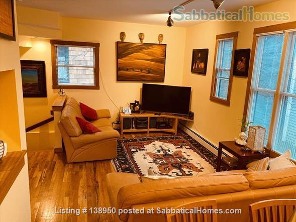 Fully furnished comfortable 3 bed 2 bath townhouse on very quiet street in  Inman Square Home Rental in Cambridge, Massachusetts, United States 2