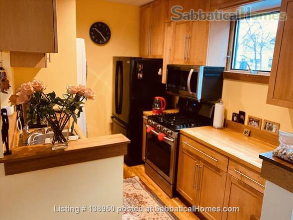 Fully furnished comfortable 3 bed 2 bath townhouse on very quiet street in  Inman Square Home Rental in Cambridge, Massachusetts, United States 3