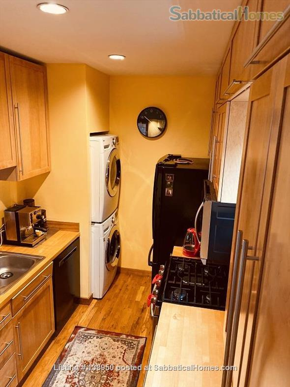 Fully furnished comfortable 3 bed 2 bath townhouse on very quiet street in  Inman Square Home Rental in Cambridge, Massachusetts, United States 4