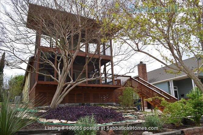 Airy home with verdant yard and screen porches Home Rental in San Antonio, Texas, United States 0