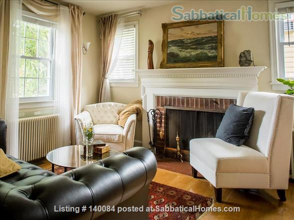 DC city living in a quiet neighborhood: Three-story charming Cape Cod  along tree-lined street  Home Rental in Washington, District of Columbia, United States 3