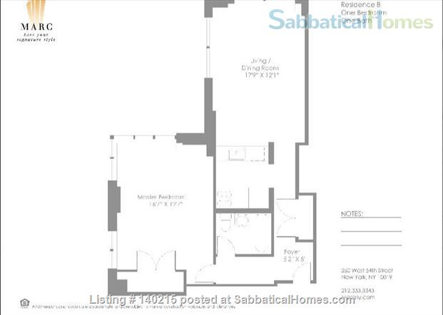 One bedroom Apartment in a luxury building in Midtown from June 1 to October 31 (possible to renewing the lease) Home Rental in New York, New York, United States 6