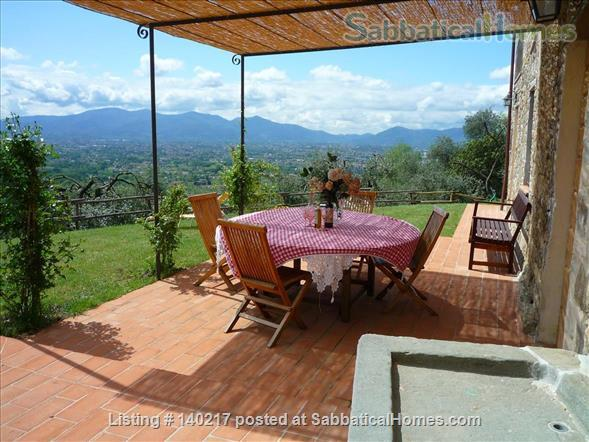 Stunning Farmhouse with Breathtaking Views and Pool Home Rental in Lucca, Tuscany, Italy 0