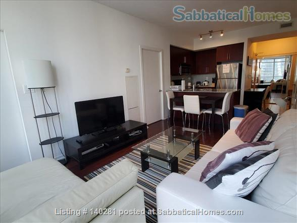 Downtown Furnished 2 Bedrooms + Large Den,  next to Union subway, Harbour Home Rental in Toronto, Ontario, Canada 2