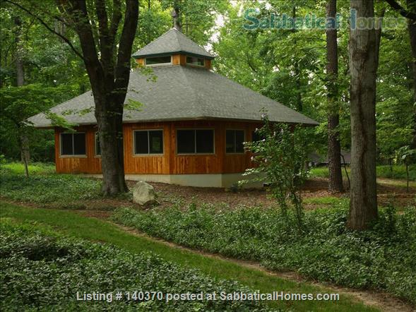 Timber Frame Home on 5 Acres of garden Home Rental in Chapel Hill, North Carolina, United States 1