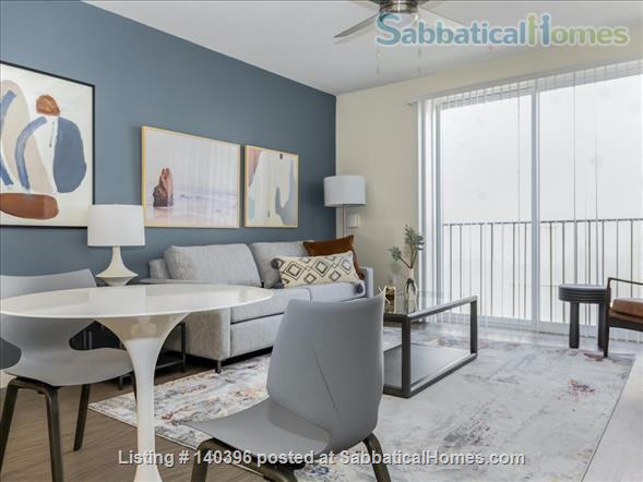 Landing Furnished Apartment at Downtown LA | Stylish New Apartment Near USC | Gym&Pool, Washer&Dryer, Rooftop Deck, Gaming Room and Full Kitchen! Home Rental in Los Angeles, California, United States 4