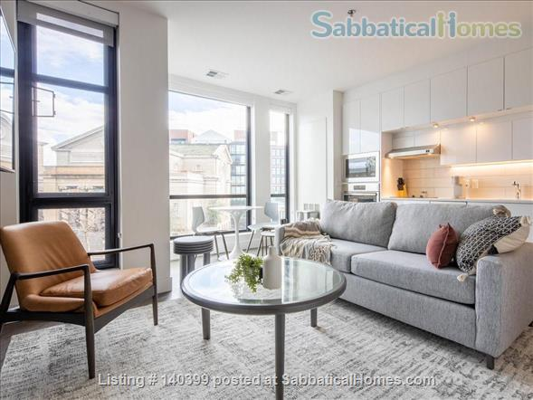 Landing Furnished Apartment Near Downtown | Gym&Rooftop Lounge, Washer&Dryer, High Ceiling, Full Kitchen | Near GU, Howard Univ. | Flexible Month to Month Leases| Seasonal Special Price Home Rental in Washington, District of Columbia, United States 1