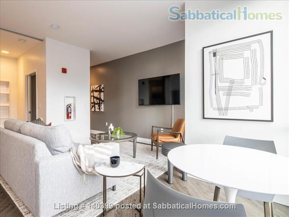 Landing Furnished Apartment Near Downtown | Gym&Rooftop Lounge, Washer&Dryer, High Ceiling, Full Kitchen | Near GU, Howard Univ. | Flexible Month to Month Leases| Seasonal Special Price Home Rental in Washington, District of Columbia, United States 7