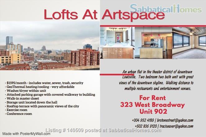 Louisville Artspace Loft Home Rental in Louisville, Kentucky, United States 0