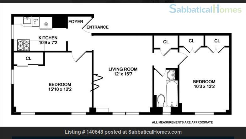 Beautiful UWS 2 Bedroom inc Utilities Home Rental in New York, New York, United States 7