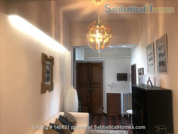 Castelli Gardens - Quiet, Luminous, Spacious, Elegant Apt in the select Poggio Imperiale district in Oltrarno Florence. Beautiful location, historic prestigious building, stone balcony, garden Home Rental in Florence, Toscana, Italy 1