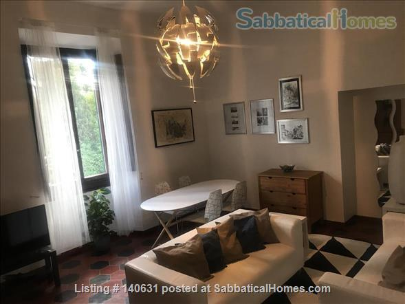 Castelli Gardens - Quiet, Luminous, Spacious, Elegant Apt in the select Poggio Imperiale district in Oltrarno Florence. Beautiful location, historic prestigious building, stone balcony, garden Home Rental in Florence, Toscana, Italy 2