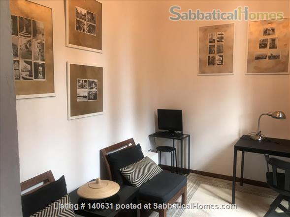 Castelli Gardens - Quiet, Luminous, Spacious, Elegant Apt in the select Poggio Imperiale district in Oltrarno Florence. Beautiful location, historic prestigious building, stone balcony, garden Home Rental in Florence, Toscana, Italy 5