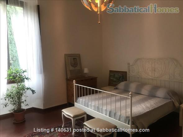 Castelli Gardens - Quiet, Luminous, Spacious, Elegant Apt in the select Poggio Imperiale district in Oltrarno Florence. Beautiful location, historic prestigious building, stone balcony, garden Home Rental in Florence, Toscana, Italy 6