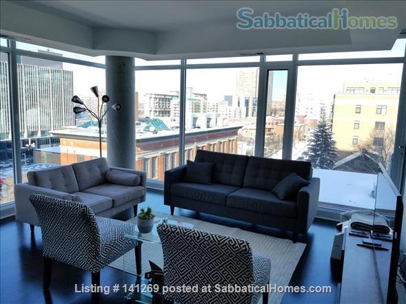 Fully Furnished 2 Bedroom + 2 Bath Condo, 5 min walk to U Ottawa Home Rental in Ottawa, Ontario, Canada 3