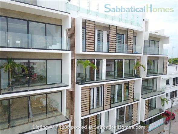 Spacious 2 or 3 BR modern apartment in central Playa del Carmen Home Rental in Playa del Carmen, Q.R., Mexico 2