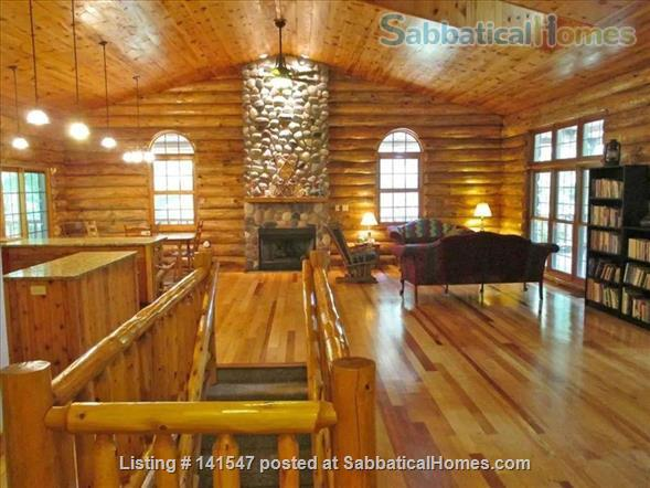 Beautiful Log River Home  20 minute commute to Madison   Home Rental in Poynette, Wisconsin, United States 0