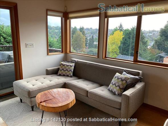 Beautiful Mid-century Modern Home with Views (available 2022!) Home Rental in Seattle, Washington, United States 0