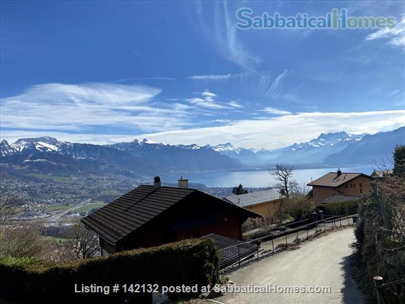 Fully furnished upscale flat for rent with 3 bedrooms and magnificent view near Lausanne, Vevey Home Rental in Chardonne 1