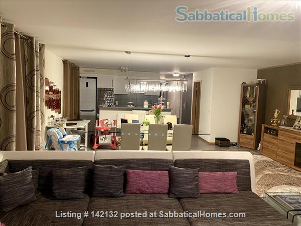 Fully furnished upscale flat for rent with 3 bedrooms and magnificent view near Lausanne, Vevey Home Rental in Chardonne 3