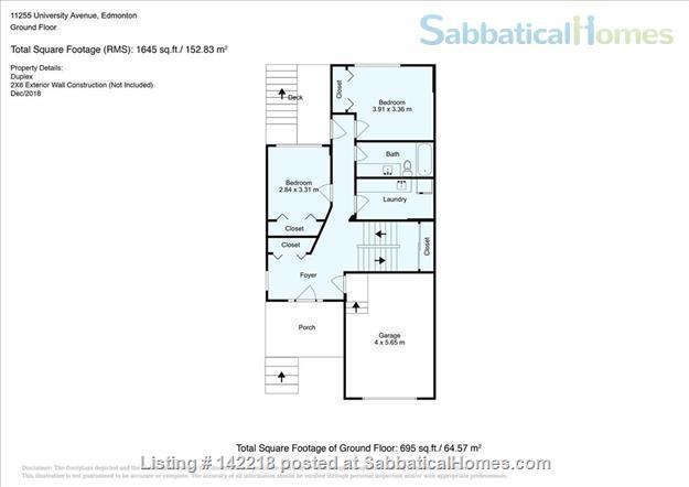 U of A - Modern 3 bedroom House - Utilities Included  Home Rental in Edmonton, Alberta, Canada 7