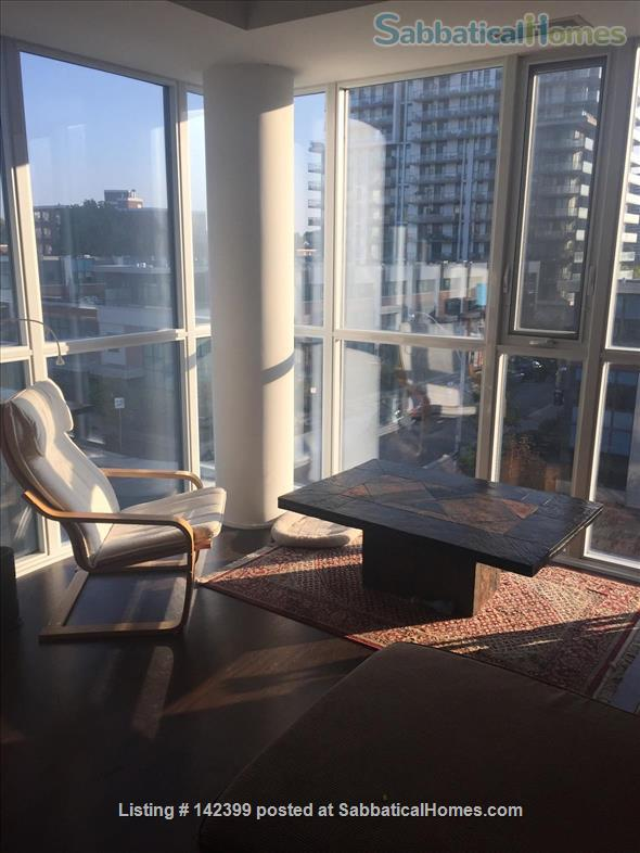 Sunny two-bedroom, two bath condo near downtown Toronto hospitals and universities, owned by Ryerson prof. Home Rental in Toronto, Ontario, Canada 1