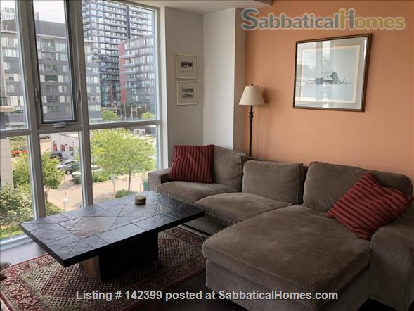 Sunny two-bedroom, two bath condo near downtown Toronto hospitals and universities, owned by Ryerson prof. Home Rental in Toronto, Ontario, Canada 3