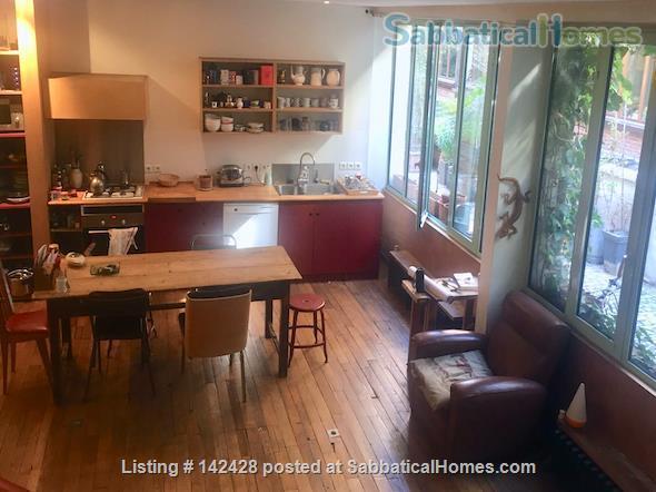 ARTIST'S TRIPLEX HOUSE ON PEACEFUL GREEN COURTYARD Home Rental in Paris, IDF, France 0