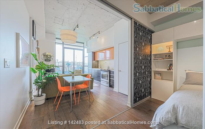 Furnished 1 Bedroom + parking Loft with Stunning Views in trendy Queen West Home Rental in Toronto, Ontario, Canada 1