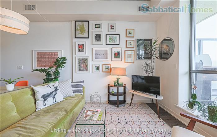Furnished 1 Bedroom + parking Loft with Stunning Views in trendy Queen West Home Rental in Toronto, Ontario, Canada 0