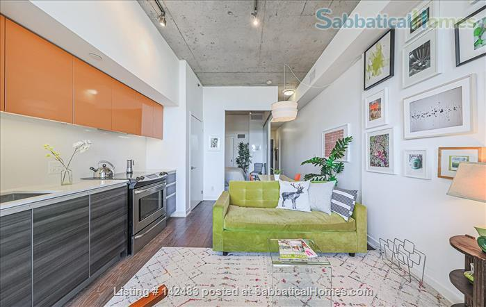 Furnished 1 Bedroom + parking Loft with Stunning Views in trendy Queen West Home Rental in Toronto, Ontario, Canada 2