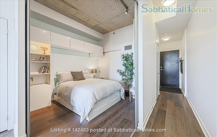 Furnished 1 Bedroom + parking Loft with Stunning Views in trendy Queen West Home Rental in Toronto, Ontario, Canada 3