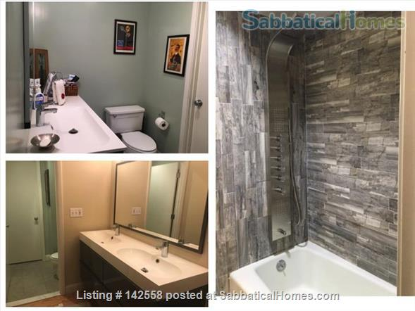 Contemporary two stories Condo (2BR + 2 BATH), fully furnished in the Fresh Pond Area. 1 mile from Harvard Sq. Utilities included with backyard, BBQ and indoors heated pool. Home Rental in Cambridge, Massachusetts, United States 6