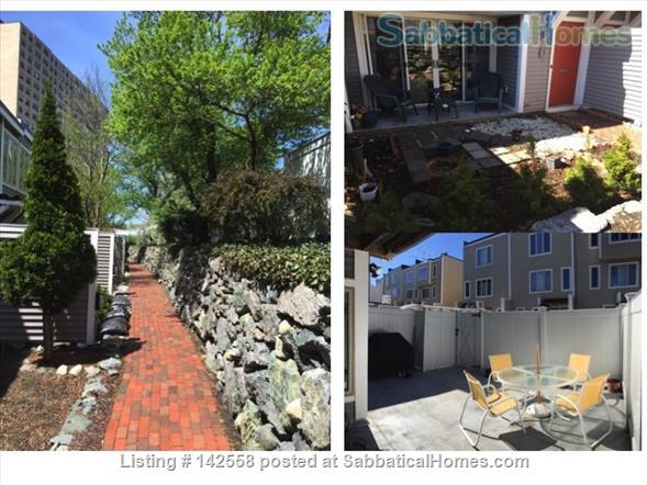 Contemporary two stories Condo (2BR + 2 BATH), fully furnished in the Fresh Pond Area. 1 mile from Harvard Sq. Utilities included with backyard, BBQ and indoors heated pool. Home Rental in Cambridge, Massachusetts, United States 7