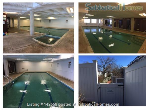 Contemporary two stories Condo (2BR + 2 BATH), fully furnished in the Fresh Pond Area. 1 mile from Harvard Sq. Utilities included with backyard, BBQ and indoors heated pool. Home Rental in Cambridge, Massachusetts, United States 8