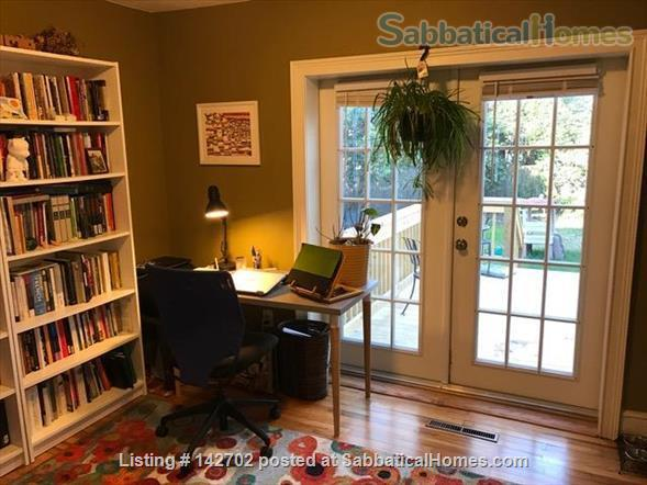 Furnished, Sunny House with Screened Porch and Fenced Yard - 2BR/1BA + Office  Home Rental in Durham, North Carolina, United States 1