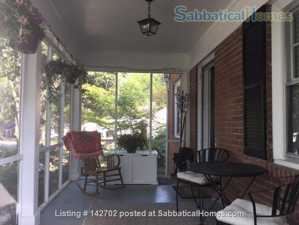 Furnished, Sunny House with Screened Porch and Fenced Yard - 2BR/1BA + Office  Home Rental in Durham, North Carolina, United States 0