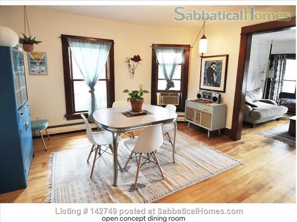 Retro Furnished 3-Bedroom Apartment on Near East Side Home Rental in Madison, Wisconsin, United States 1