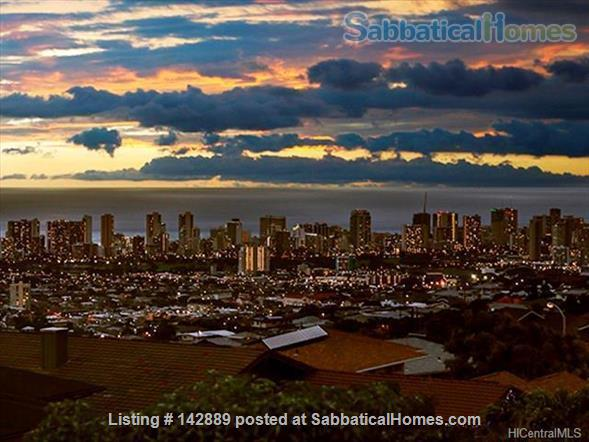 Your Honolulu home away from home w/ ocean and city views, pool + hot tub - 10 min to the beach Home Rental in Honolulu, Hawaii, United States 0