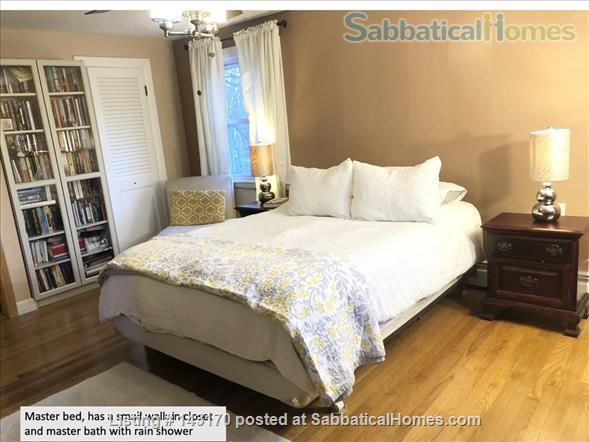 Furnished Private Family home in Newton Center 4 bed/2.5 bath home. Heated Inground Pool.  Oasis in the City.  Close to Harvard, Boston Universities and Longwood Medical Area. Home Rental in Newton, Massachusetts, United States 3