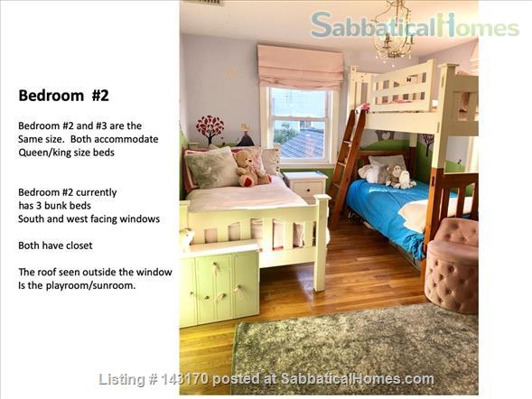 Furnished Private Family home in Newton Center 4 bed/2.5 bath home. Heated Inground Pool.  Oasis in the City.  Close to Harvard, Boston Universities and Longwood Medical Area. Home Rental in Newton, Massachusetts, United States 4