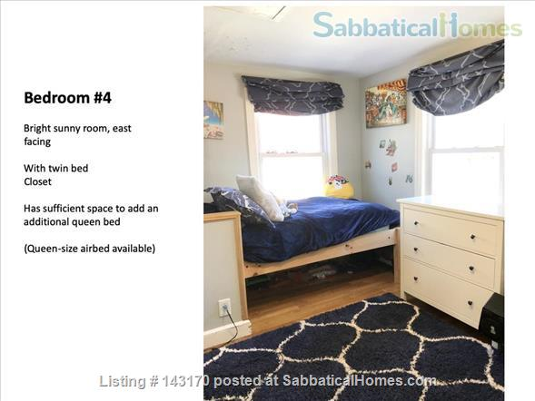 Furnished Private Family home in Newton Center 4 bed/2.5 bath home. Heated Inground Pool.  Oasis in the City.  Close to Harvard, Boston Universities and Longwood Medical Area. Home Rental in Newton, Massachusetts, United States 5