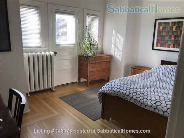 Bedroom with private deck in spacious, bright home Home Rental in Toronto, Ontario, Canada 5