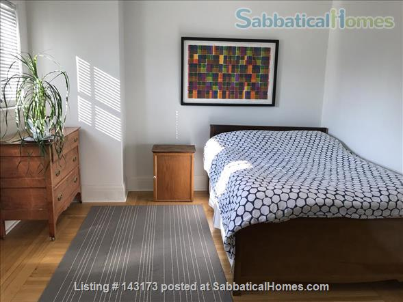 Bedroom with private deck in spacious, bright home Home Rental in Toronto, Ontario, Canada 6