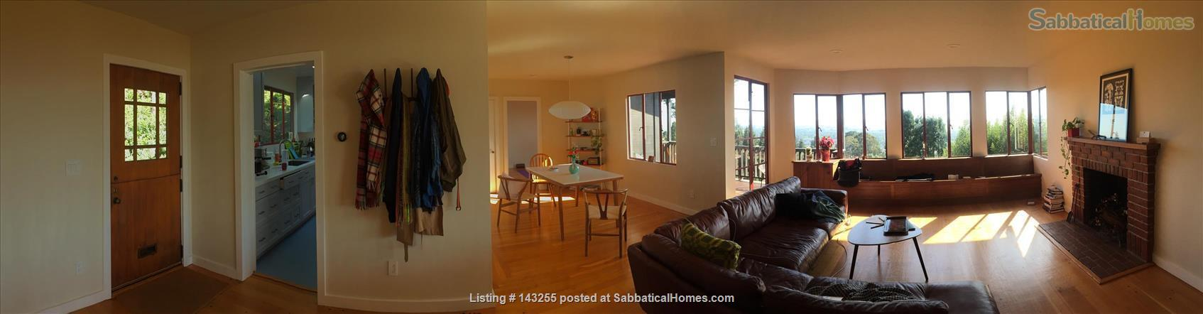 Beautiful light-filled house with Bay views near Rose Garden, walkable to UCB, North Berkeley restaurants, cafés, stores, farmers market Home Rental in Berkeley, California, United States 2